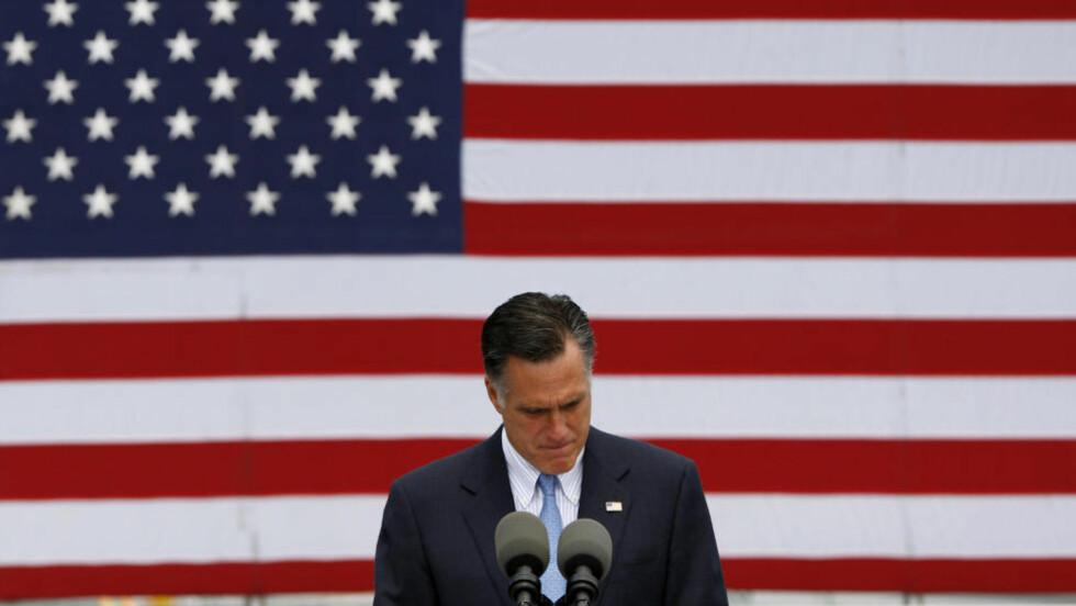 RIK, VELLYKKET OG LITE FOLKELIG: Mitt Romney sliter overfor velgerne med å bruke sin historie. Demokratene kom ham i forkjøpet. Foto: Reuters / NTB Scanpix