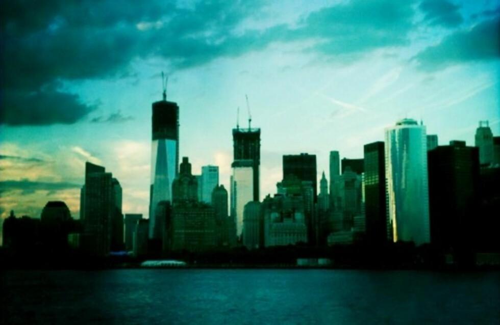 RAGER HØYEST: One World Trade Center (høyest t.v.) sett sørfra. MMS-foto: RALF LOFSTAD / DAGBLADET
