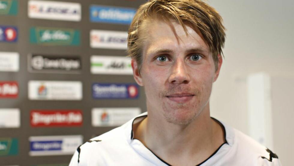 VIL BLI: Finnen Riku Riski er blitt en suksess i Hønefoss. Den målfarlige 22-åringen sier han ønsker å fortsette hos ringerikingene. Foto: Anette Karlsen / NTB scanpix