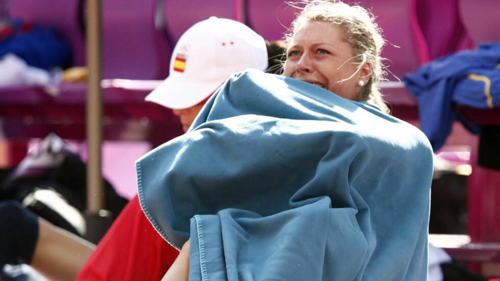 VOND SLUTT: Tonje Angelsen tok EM-sølv med høyden 1,97. OL-konkurransen stoppet på 1,85. Foto: Heiko Junge / NTB scanpix