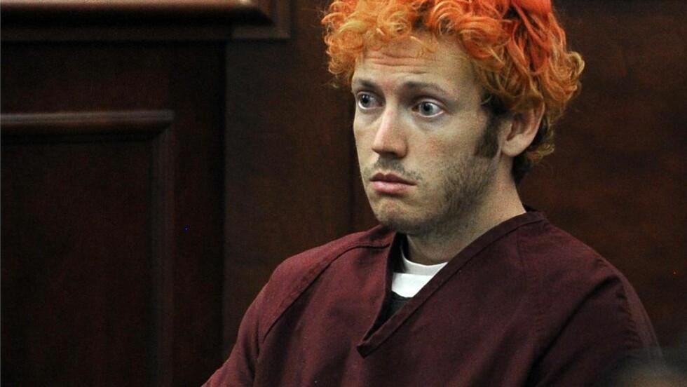 TILTALT: James Holmes er tiltalt for drap på 12 mennesker. Foto: AFP