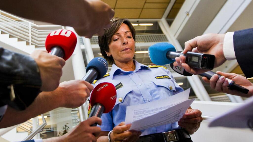 ETTERFORSKNING: Politiinspektør Hanne Kristin Rohde informerte torsdag om etterforskningen av forsvinningen til Sigrid Giskegjerde Schjetne (16) som ble meldt savnet natt til søndag. Foto: Vegard Grøtt / NTB scanpix