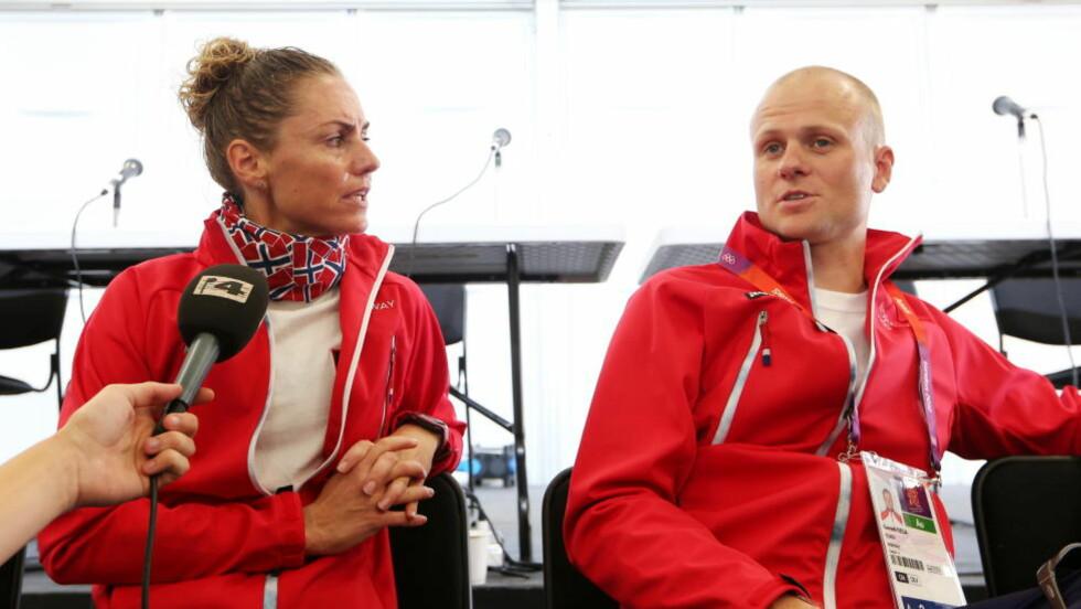KLAR TIL START: Gunn-Rita Dahle Flesjå og trenermann Kenneth Flesjå har alt under kontroll før start i morgen.  Foto: Håkon Mosvold Larsen / NTB scanpix