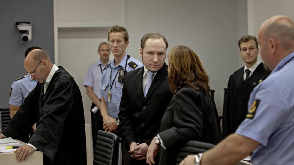 SLUTNINGEN FØRST: Slutningen i dommen mot Anders Behring Breivik blir lest opp først den 24. august når Breivik får dommen i Oslo tingrett. Domsavsigelsen er ventet å vare i seks timer. Foto: Lars Eivind Bones / Dagbladet