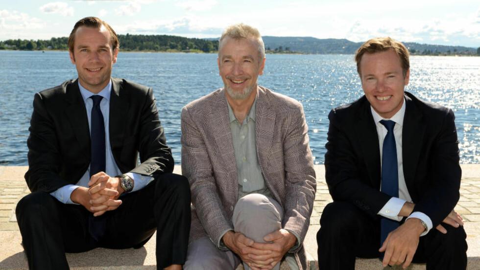 SELVAAG-KLANEN: Fra venstre: Gunnar Frederik Selvaag, Ole Gunnar Selvaag og Olav H. Selvaag. Foto: Mona Ranum / Stella Pictures