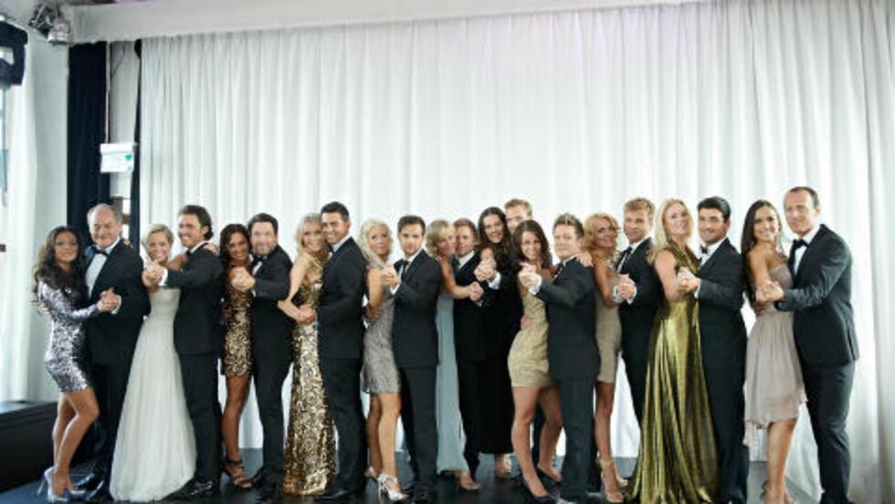 TIL PARKETTEN: Årets «Skal vi danse»-deltagere ble avslørt under en pressekonferanse i Oslo i går. Foto: Stella Pictures