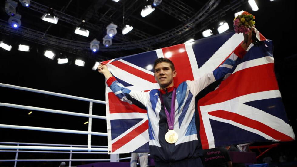 OL-GULL: Briten Luke Campbell vartet opp med OL-suksess på hjemmebane da irske John Joe Nevin ble slått i boksefinalen i bantamvekt lørdag. Foto: REUTERS/Damir Sagolj