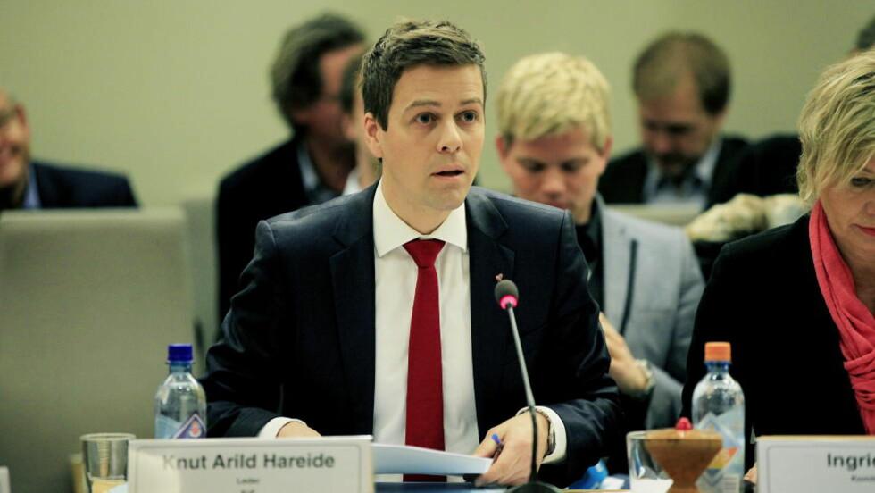 KRITISK: Her er komiteleder Knut Arild Hareide (KrF) under 22. julihøringen i Stortinget. Foto: Jacques Hvistendahl