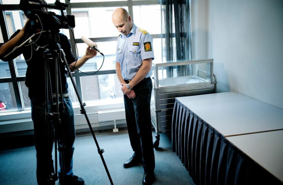 I PRESS: Politidirektør Øystein Mæland er i hardt vær etter 22. juli-kommisjonen la fram sin rapport i går. Foto: Thomas Rasmus Skaug / Dagbladet