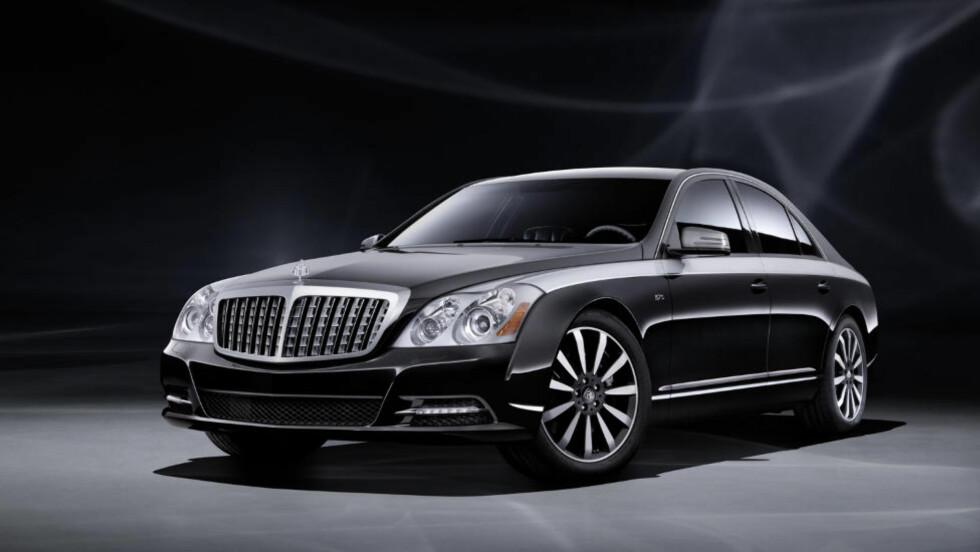 EDITION 125: Eller Final edition om du vil. Dette er den siste av luksusmonstrene fra Maybach. Den klarte aldri å konkurrere med Rolls Royce. Foto: MAYBACH