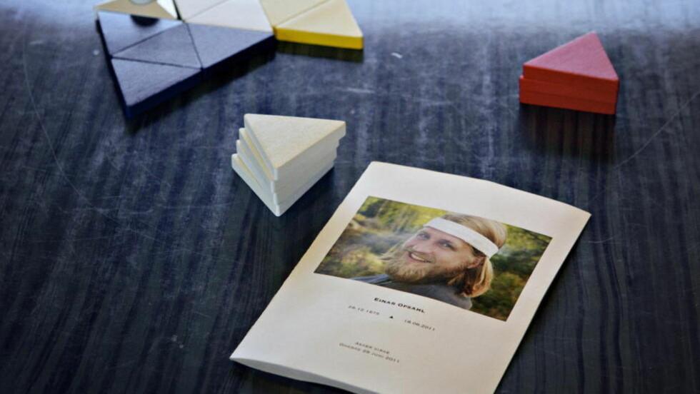 LEVER VIDERE:  Familie og venner har fullført prosjektet Einar Opsahl bare ble nesten ferdig med før skuddet ved Bislett i fjor somemr. FOTO: JØRN H. MOEN/DAGBLADET.