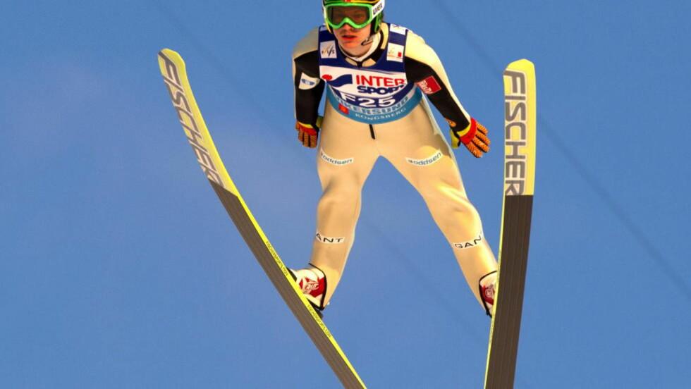 NUMMER FIRE: Tom Hilde og de andre norske hopperne endte på 4. plass tirsdag. Foto: Terje Bendiksby / Scanpix