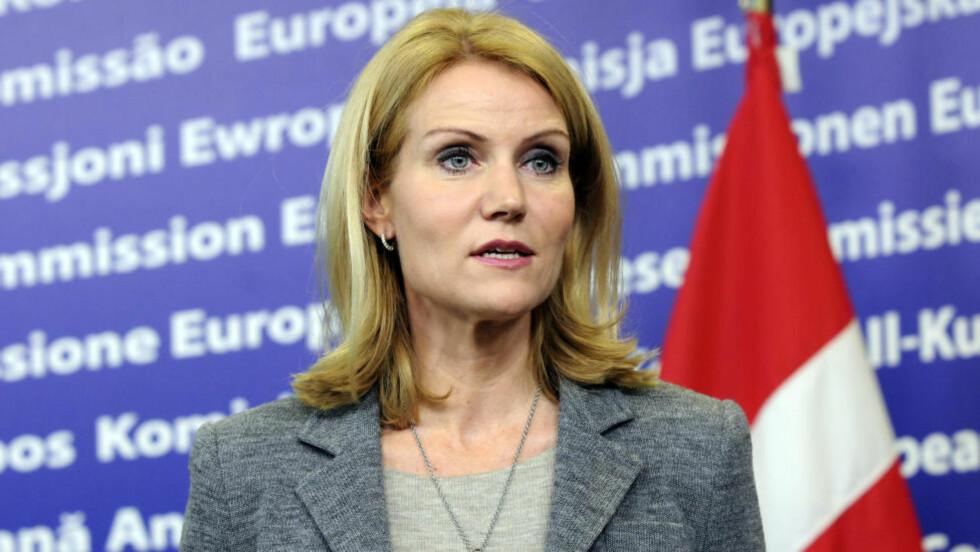 SLITER:  Statsminister Helle Thoring-Schmidt-  Foto: SCANPIX/AP Photo/Thierry Charlier