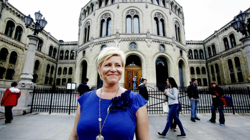 KREVER KOMITÉ: Frp-leder Siv Jensen krever en ny Stortings-komite med innsyn i PSTs budsjetter. Foto Kristin Svorte