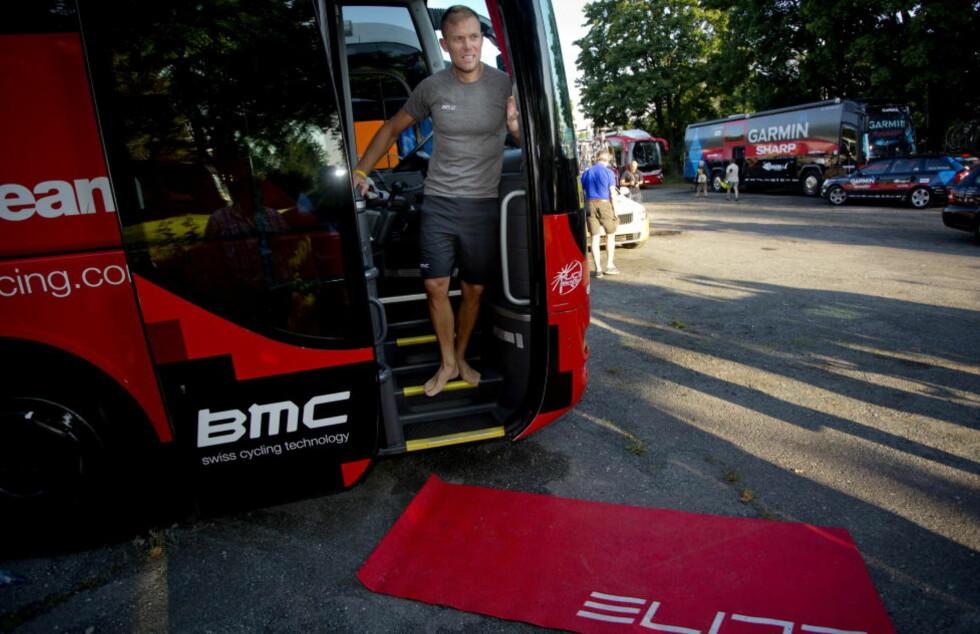 FERDIG FOR ÅRET: Thor Hushovd gir seg med konkurransesykling for i år. Foto: Daniel Sannum Lauten / NTB scanpix
