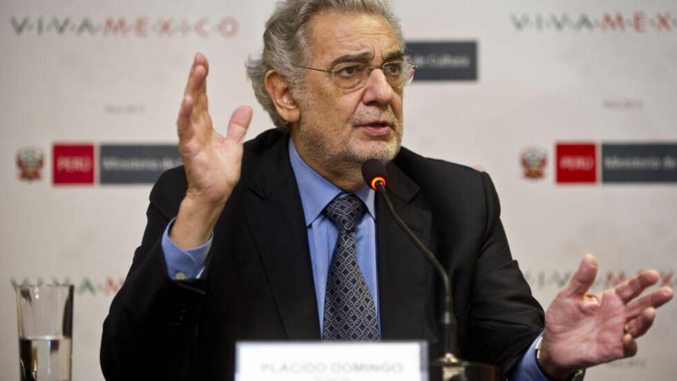 TENOR: Placido Domingo. Foto: ERNESTO BENAVIDES / AFP / NTB Scanpix