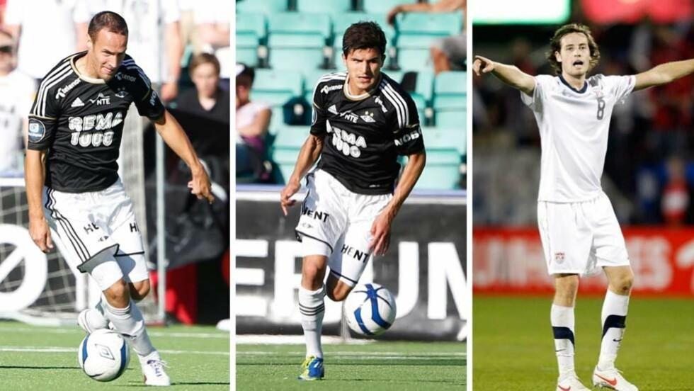 FORSTERKNINGER: Rosenborg har vært aktive på overgangsmarkedet i sommer og har hentet Tore Reginiussen (f.v.), Tarik Elyounoussi og Mikkel Diskerud. Alle foto: NTB Scanpix