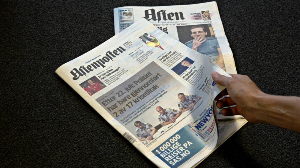 BILAG: Aftenposten Aften skal etter planen distribueres sammen med morgenavisa. Illustrasjonsfoto: Lars Eivind Bones / Dagbladet
