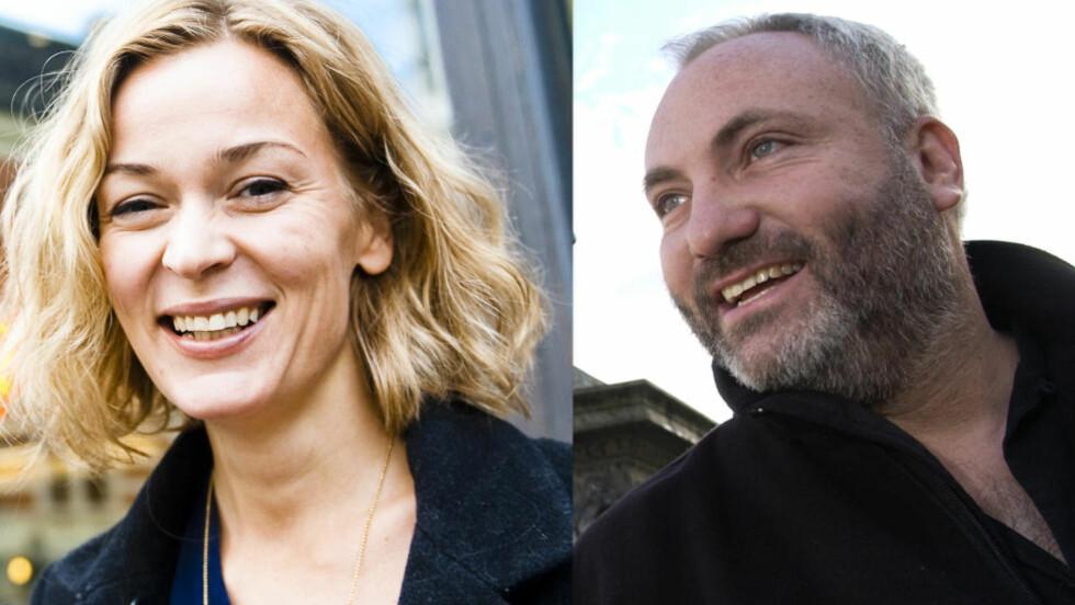 I SVENSK FILM: Norske Line Verndal og danske Kim Bodnia. Foto: Håkon Eikesdal / Tor Erik H. Mathiesen