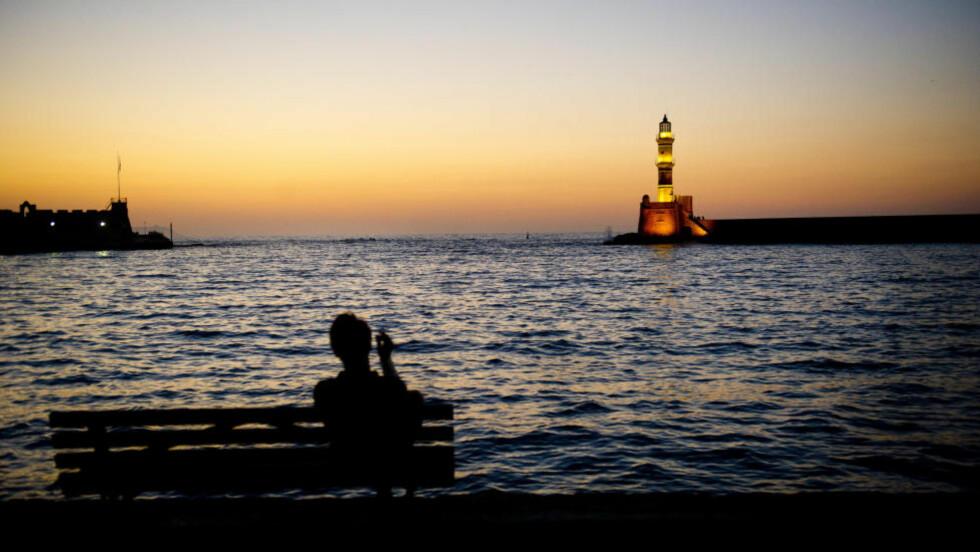 KRETA: Her går ikke tiden, den kommer, sier grekerne. Foto: JOHN TERJE PEDERSEN