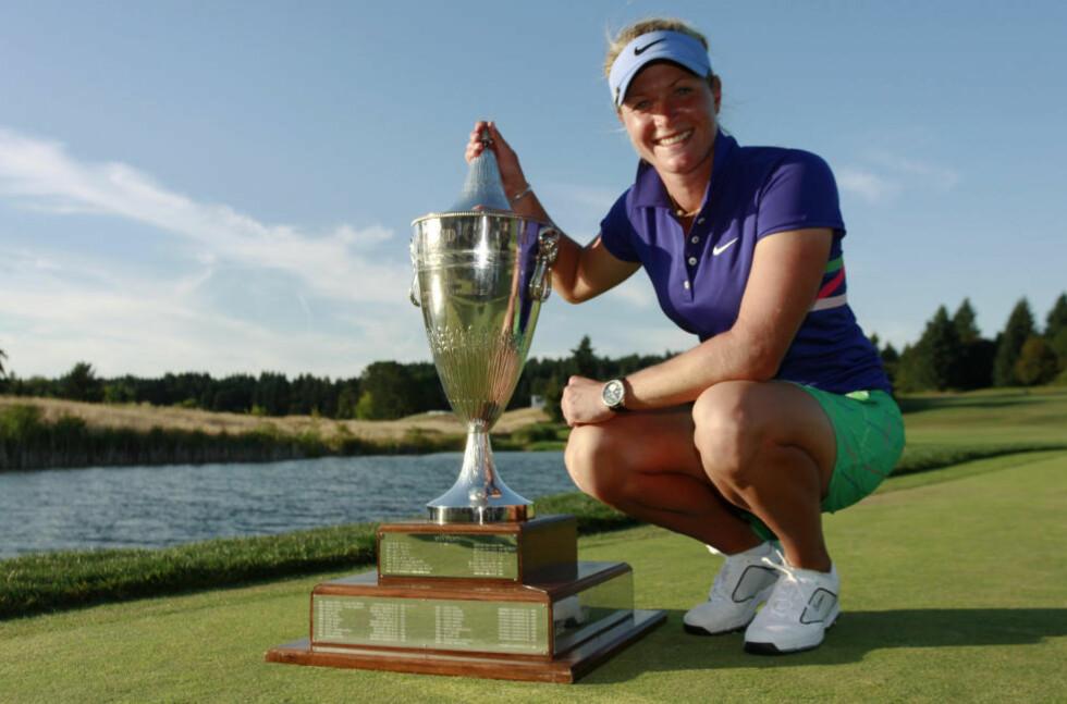 DRØMMER OM REPRISE: Suzann Pettersen har ikke vunnet en turnering på LPGA-touren i golf på ett år. I helgen er hun tilbake på banen i Oregon der hun tok sin siste seier. Foto: Steve Dipaola  / REUTERS / NTB Scanpix