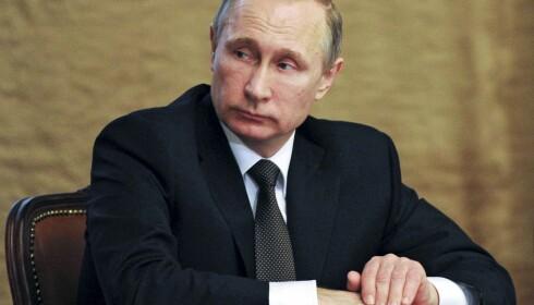 MISTENKT: Her er Russlands president Vladimir Putin på et FSB-møte. Russisk etterretning mistenkes blant annet for å stå bak cyber-innbruddet i Det demokratiske partiet i USA. Foto: Mikhail Klimentyev/Sputnik/AP