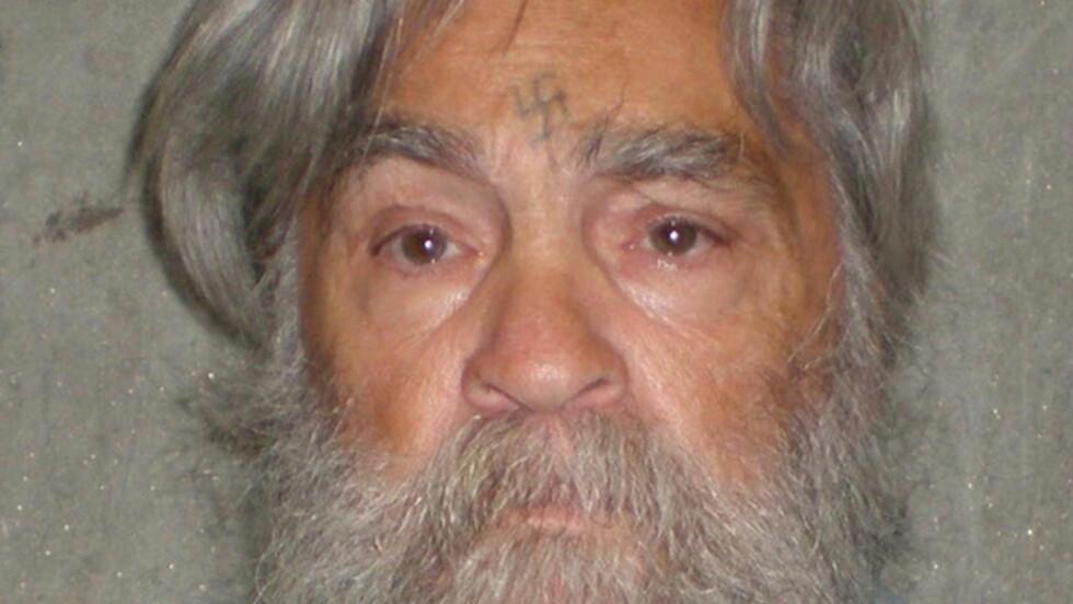 NY HØRING: Den notoriske seriemorderen Charles Manson skal igjen vurderes for prøveløslatelse. Dette nye bildet viser en aldrende Manson. Foto:AP Photos/Scanpix