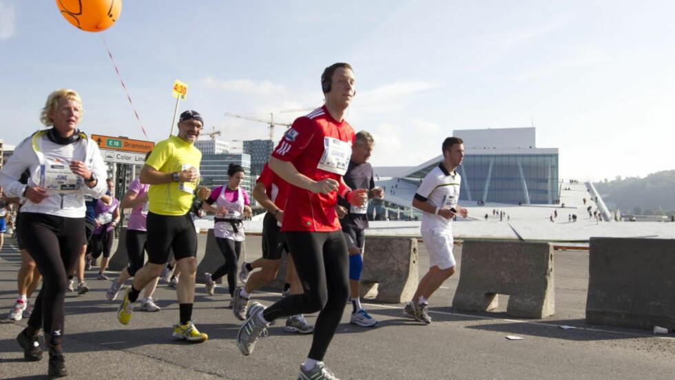 REKORD: Mange er påmeldt til Oslo Maraton i år. Dette bildet er fra 2011-utgaven. Foto: Terje Bendiksby / Scanpix