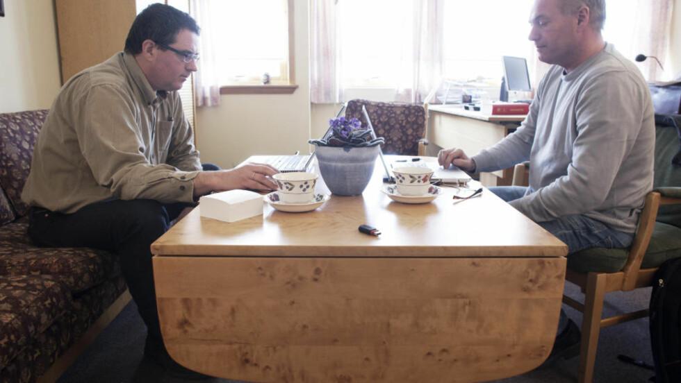 HAR GJORT NY VURDERING: I dag overleverte psykiaterne Terje Tørrissen og Agnar Aspaas den andre psykiatriske vurderingen av terrortiltalte Anders Behring Breivik. Foto: TROND REIDAR TEIGEN/SCANPIX