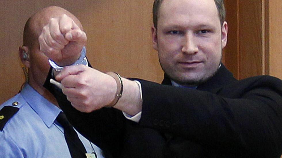 TILREGNELIG: De nye psykiaterne konkluderer med at Anders Behring Breivik er tilregnelig. Foto: Lise Åserud/NTB Scanpix