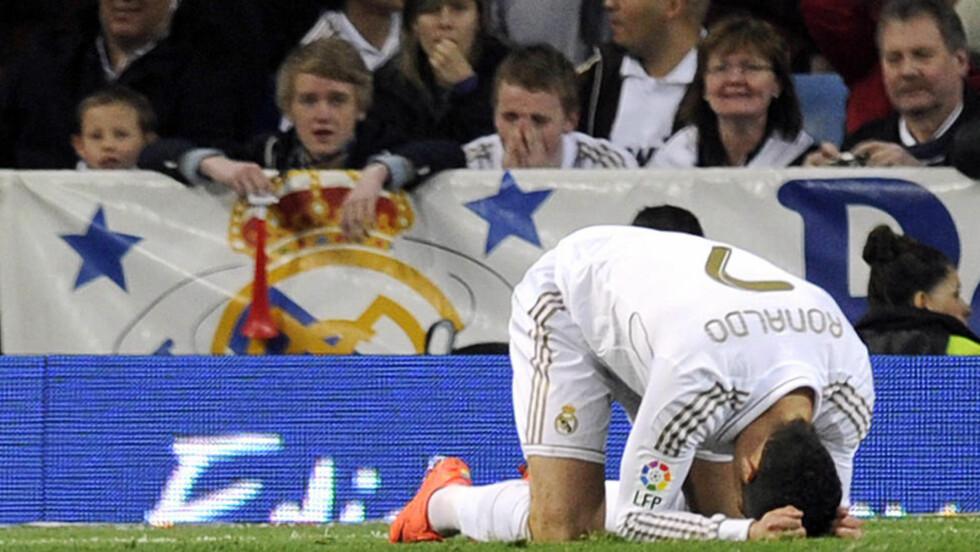 SKJELVER: Real Madrid klarte bare uavgjort mot Valencia i helga. Foto: AFP Photo / Dominique Faget / NTB Scanpix