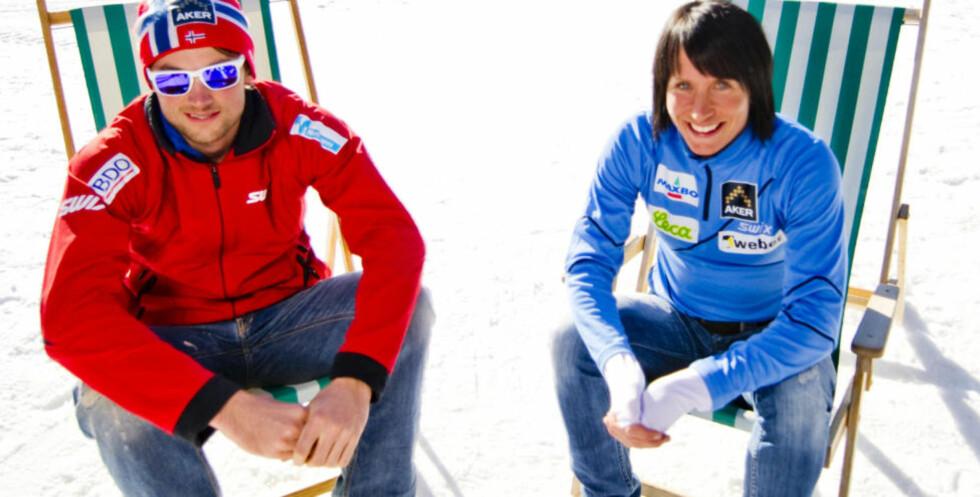 KOMMER TIL RØLDAL:  Petter Northug og Marit Bjørgen skal kjøre storslalåm nedover i Røldal og klatre opp alpinbakken på langrennski. Foto: THOMAS RASMUS SKAUG
