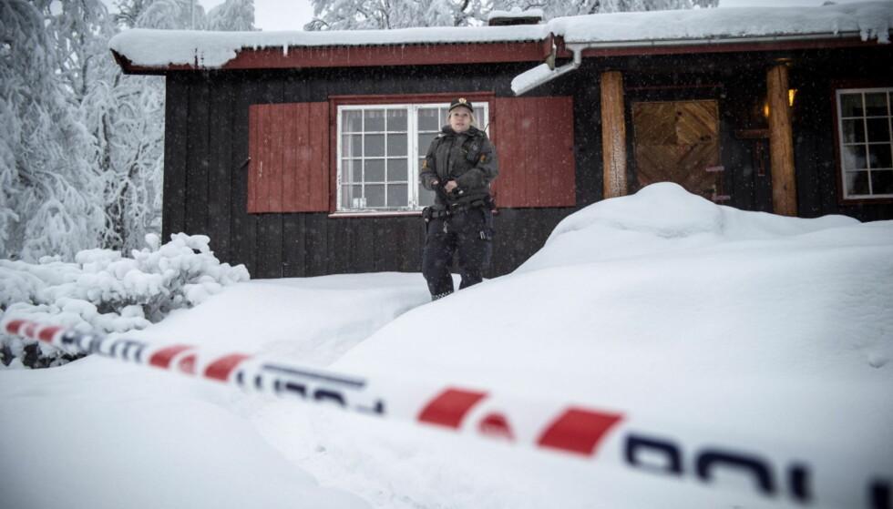 DØDE PÅ HYTTA: Ei 13 år gammel jente døde i en hytte på Beitostølen på nyttårsaften. Foto: Øistein Norum Monsen