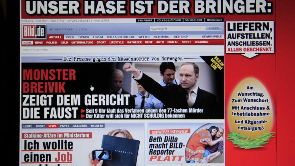 VERDEN RUNDT: Internasjonale medier vier stor oppmerksomhet til Anders Behring Breiviks første dag i retten. Foto: Jacques Hvistendahl
