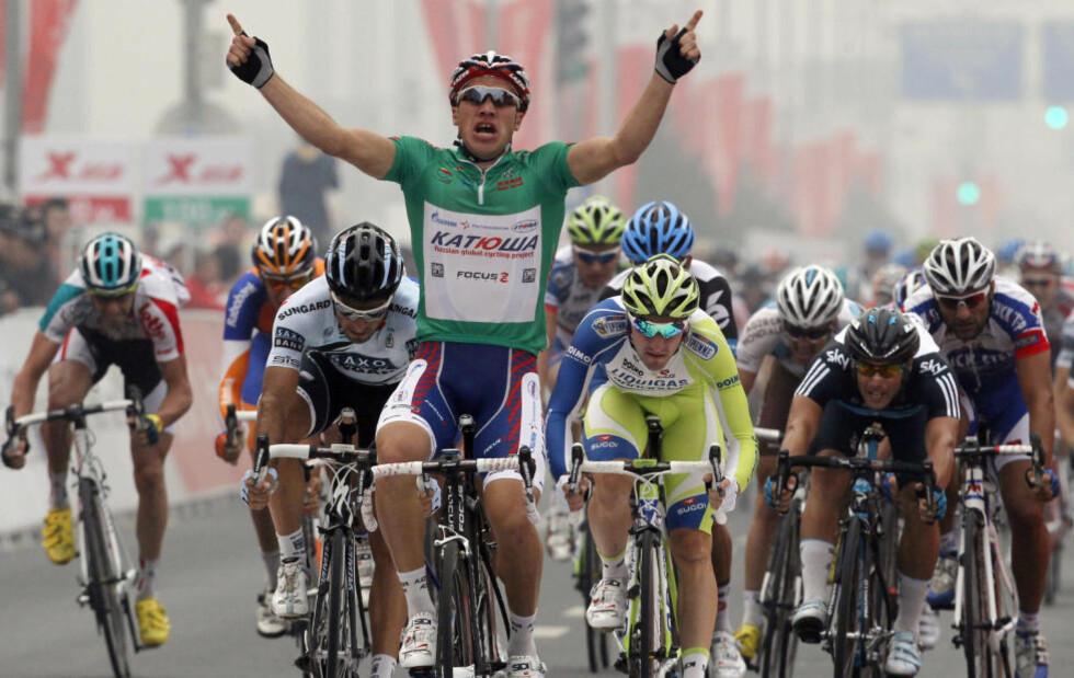 TESTET POSITIVT: Denis Galimzjanov fra Russland har levert en positiv dopingprøve. Foto: AP Photo/Ng Han Guan