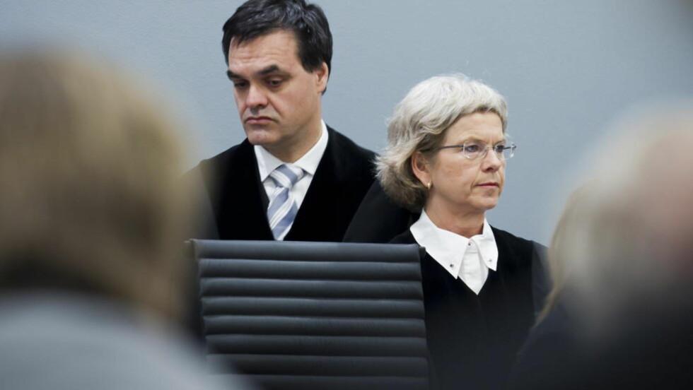 DOMMERE: Fagdommer Wenche Elizabeth Arntzen og fagdommer Arne Lyng. Foto: Heiko Junge/NTB Scanpix Pool