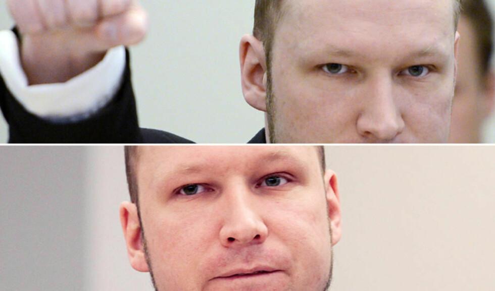 VISER TO ANSIKTER: Dagbladets kommentator Andreas Wiese mener Anders Behring Breivik viser to ansikter i retten. Foto: NTBSCANPIX