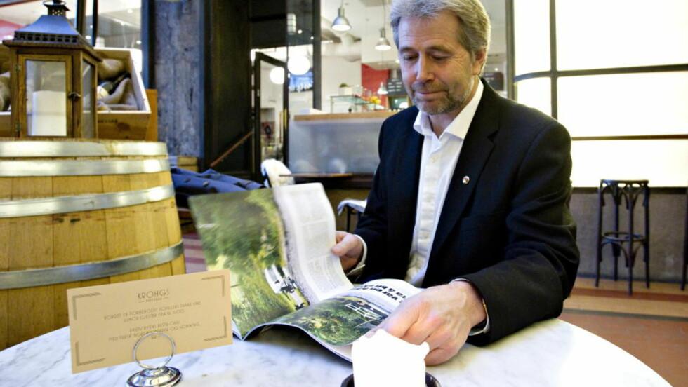 I DAGBLAD-STUDIO: Arne Johannessen kommer i Dagbladets direktesending fra studio i dag. Her er han under Politiets evaluering av deres arbeid 22. juli. Foto: Torbjørn Berg / Dagbladet