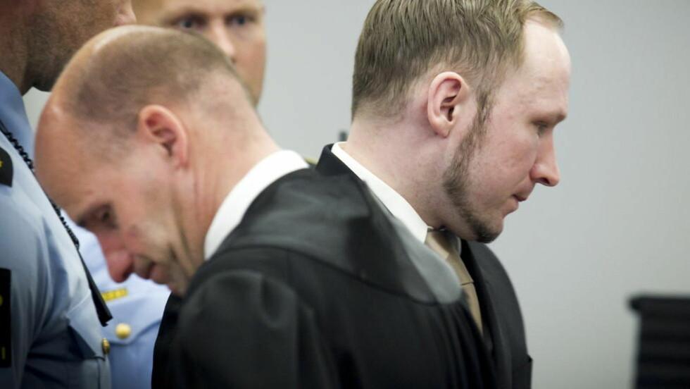 TILTALT: Terrorrettssaken mot Anders Behring Breivik er i full gang i Oslo Tingrett. Foto: Heiko Junge / Scanpix