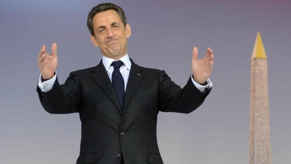 FERDIG? Nicolas Sarkozy kjemper hardt for å bli gjenvalgt som president etter fem år i Elysée-palasset. Her foran obelisken på Place de la Concorde i Paris. Foto: AFP/ERIC FEFERBERG