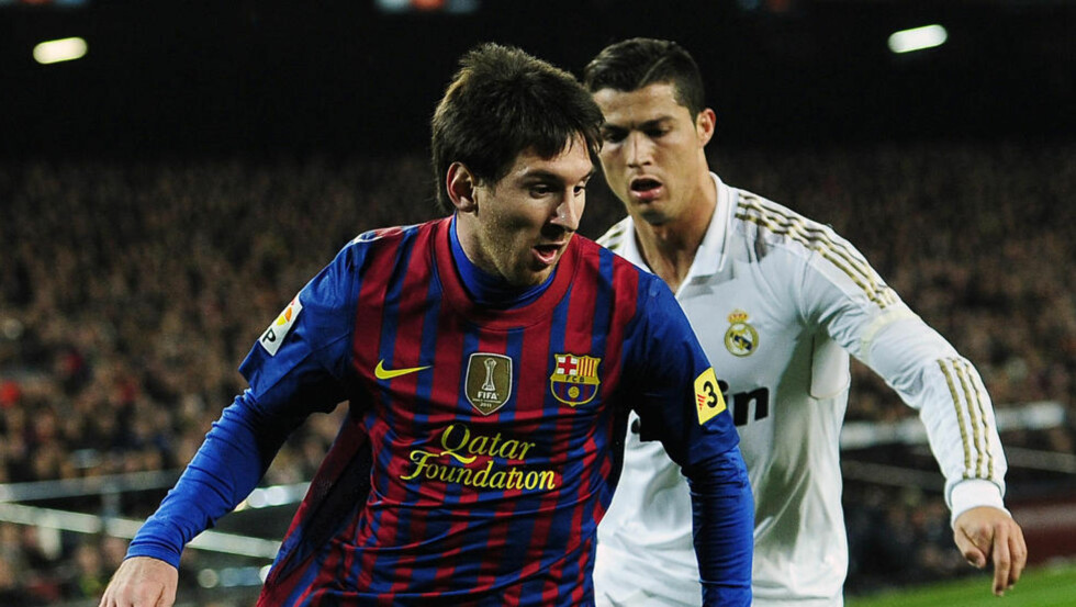 SUPERPAR: 41 seriescoringer hver, det er fantastiske tall. Lørdag kveld møtes Leo Messi og Cristiano Ronaldo til duell igjen.Foto: SCANPIX/AP/Manu Fernandez