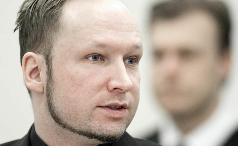FINNER BELEGG: Anders Behring Breivik sier at angrepet var selvforsvar, og at det derfor blir støttet av bibelen. Foto: Bjørn Langsem / Dagbladet.