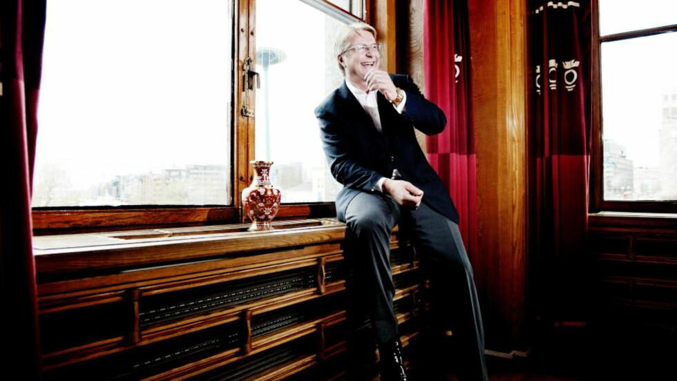VENNER: Oslo-ordfører Fabian Stang (Høyre) er såpass nær venn av milliardærrederen Felix Tschudi at det var unaturlig å involvere seg i Tschudis fotoutstlling på Oslo rådhus. Foto : Thomas Haugersveen / Dagbladet