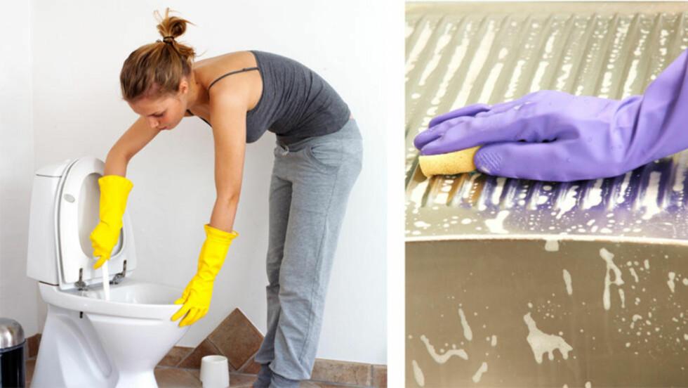 VEKK, VEKK: Noen steder er skitnere enn andre i hjemmet ditt. Slik går du frem for at det skal bli rent. Foto: Colourbox