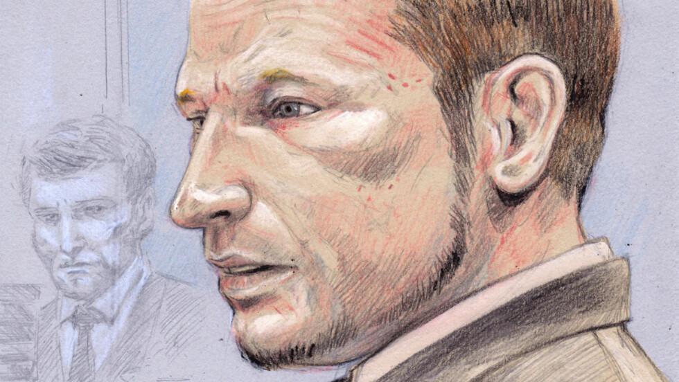 LANG FREDAG: Terrortiltalte Anders Behring Breiviks beskrivelser av ugjerningene på Utøya er de mest groteske i en norsk rettssal noensinne. Tegning: Fedor Sapegin