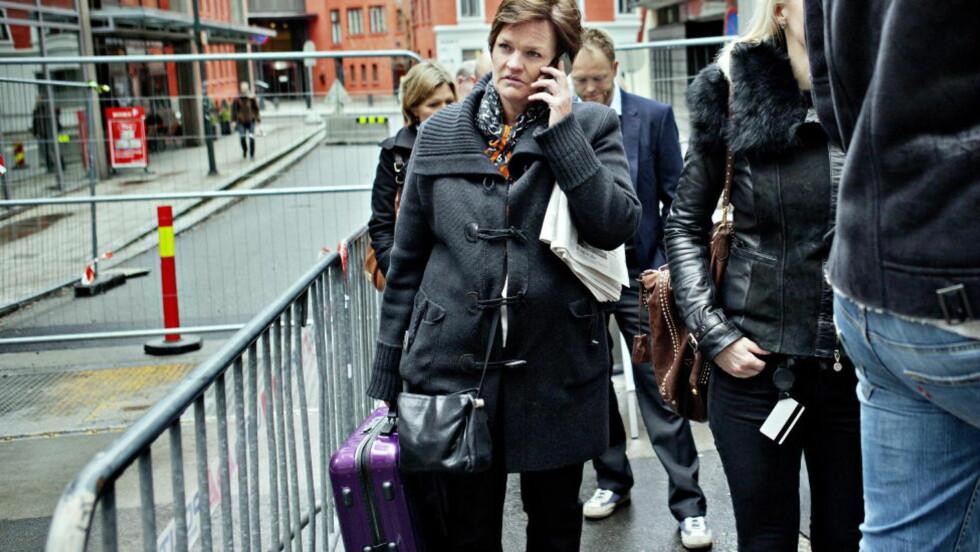 HAR FORBEREDT SPØRSMÅL: Mette Yvonne Larsen har med flere spørsmål fra overlevende og pårørende. Foto: Nina Hansen / Dagbladet