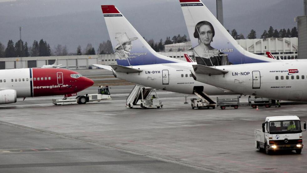 STEVNER PILOTENE:  NHO Luftfart mener Norwegian-pilotenes krav i lønnsoppgjøret er ulovlige og stevner pilotene inn for arbeidsretten. Foto: Anette Karlsen / NTB scanpix