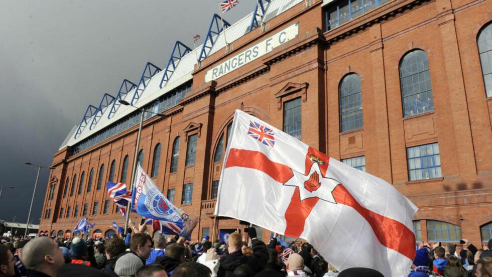 I ALVORLIG TRØBBEL: Glasgow Rangers er i alvorlig økonomisk trøbbel og får ikke kjøpe nye spillere på 12 måneder.Foto: REUTERS/Russell Cheyne/NTB scanpix