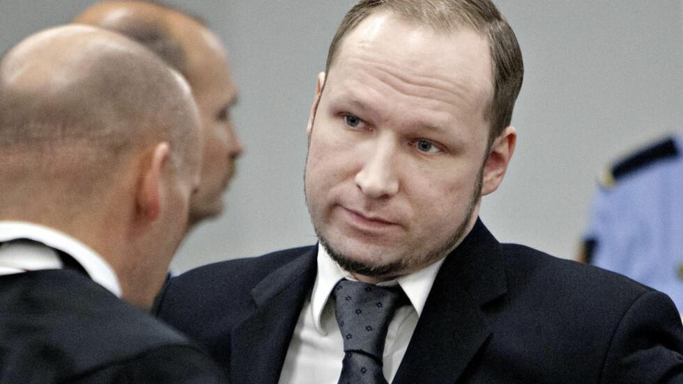 IKKE KRINGKASTET: Oslo tingrett har avvist en begjæring fra mediene om å få filme og kringkaste Anders Behring Breiviks reaksjoner på vitneutsagn i rettssaken mot ham. Foto: Torbjørn Grønning / Dagbladet