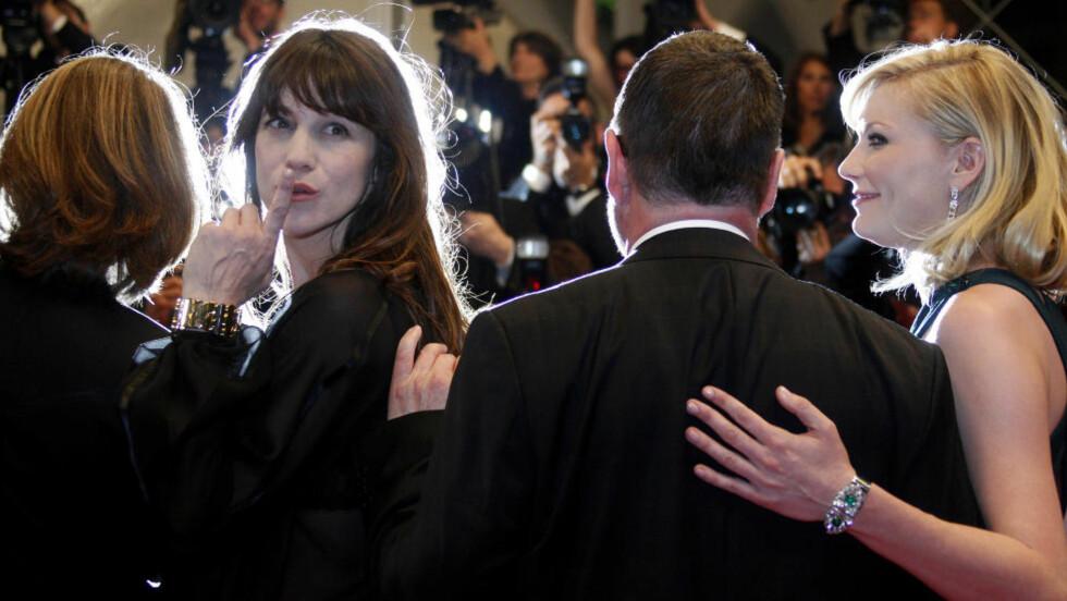 """JOBBER SAMMEN IGJEN: Charlotte Gainsbourg har takket ja til en rolle i den neste Lars von Trier-filmen. Her fra lanseringen av """"Melancholia"""" i Cannes i fjor. Foto: Scanpix/REUTERS"""